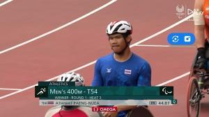 """""""อธิวัฒน์"""" ทุบสถิติวีลแชร์ 400 เมตรชาย กอดคอ """"สายชล-ภูธเรศ"""" ชิงเหรียญพาราฯ"""