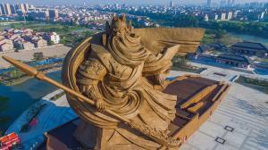 """ไม่รอด! จีนสั่งรื้อ อนุสาวรีย์ """"กวนอู"""" ใหญ่ที่สุดในโลก หลังหวังสร้างเป็นแลนด์มาร์คท่องเที่ยวแห่งใหม่"""