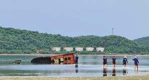 กองทัพเรือเร่งเก็บกู้ซากเรือของกลางใต้ทะเลอ่าวฐานทัพเรือสัตหีบ ฟื้นฟูธรรมชาติท้องทะเลไทย