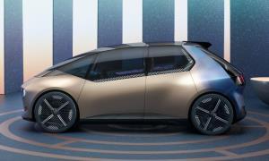 BMW i Vision Circular ต้นแบบรถยนต์ไฟฟ้าทำจากวัสดุรีไซเคิลทั้งคัน