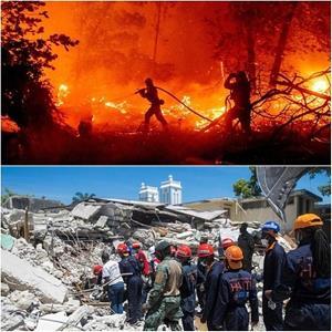 เหตุการณ์ไฟไหม้ป่าแคลิฟอร์เนีย ครั้งรุนแรงและยาวนาน เมื่อปี 2020 และแผ่นดินไหวถล่มเฮติ ในปีนี้ ที่ยังไม่นับรวมด้วย