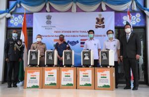 สธ. รับมอบเครื่องผลิตออกซิเจน 300 เครื่องจากรัฐบาลอินเดีย สนับสนุนการดูแลผู้ป่วยโควิด-19