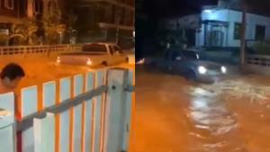 ไร้จิตสำนึก! รถกระบะขับฝ่าน้ำท่วมด้วยความเร็ว ไม่สนใจคนอื่นเดือดร้อน (ชมคลิป)