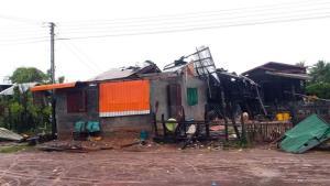 พายุโกนเซินถล่มลาวใต้ดับแล้ว 1 บ้านพัง 75 หลัง ชาวบ้านไร้ที่อยู่นับร้อย