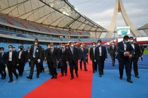 'ฮุนเซน' รับมอบสนามกีฬาแห่งใหม่ ชูเป็นผลจากมิตรภาพสุดแข็งแกร่ง 'จีน-กัมพูชา'
