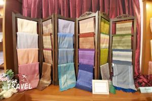 ผ้าผืนเก่าแก่ลวดลายสวยงามในพิพิธภัณฑ์