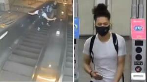 ใจทำด้วยอะไร! ชายหนุ่มถีบผู้หญิงร่วงตกบันไดเลื่อนในสหรัฐฯ เหยื่อแค่ขอให้เอ่ยปาก 'ขอโทษ' (ชมคลิป)