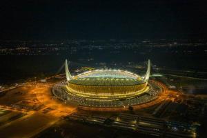 (ชมภาพ/คลิป) ชมอลังการ!  'มรดกเดโช' สนามกีฬาแห่งชาติทุนจีน กระชับสัมพันธ์ 'จีน-กัมพูชา' แน่นแฟ้น
