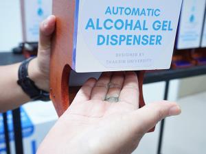 ทีมนักวิจัย ม.ทักษิณ ผลิตเครื่องจ่ายเจลแอลกอฮอล์อัตโนมัติ ตอบโจทย์การใช้งานด้วยขนาดกะทัดรัด