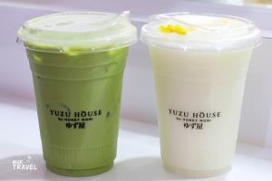Shizuoka Organic Matcha และ Blended Yuzu Yoghurt