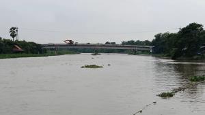 แม่น้ำท่าจีนเอ่อล้นตลิ่ง ท่วมแปลงผักของเกษตรกรเสียหายจำนวนมาก
