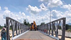 ติดตั้งเสร็จแล้ว! สะพานเบลีย์ข้ามแม่น้ำแม่วงก์ เปิดสัญจรชั่วคราวบรรเทาความเดือดร้อน