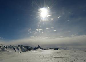 ทวีปแอนตาร์กติกในฤดูใบไม้ผลิของซีกโลกใต้