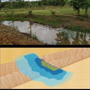 """""""ทำฝายแกนซอยซิเมนต์ เก็บกักน้ำ"""" นวัตกรรมบริหารจัดการแหล่งน้ำขนาดเล็ก แก้ปัญหาขาดน้ำทางเกษตรยั่งยืน ลดเหลื่อมล้ำ / สังศิต พิริยะรังสรรค์"""