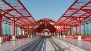 เผยภาพจำลอง สถานีหัวหินใหม่รถไฟทางคู่ เน้นสถาปัตยกรรมสีครีมตัดกับแดง