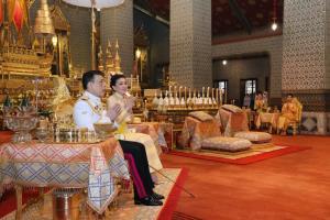 ในหลวง-พระราชินี เสด็จฯ พระราชพิธีทรงบำเพ็ญพระราชกุศล เนื่องในวันคล้ายวันสวรรคต ร.๙