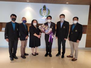ส.ผู้สื่อข่าวกีฬาแห่งประเทศไทย บุกให้กำลังใจผู้ว่า กกท. พร้อมยินดีครบรอบ 57 ปี