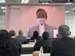 """""""สมชาติ"""" นำผู้บริหาร พร้อมจนท.พอช. ร่วม""""ภารกิจคิดเผื่อเพื่อคนไทย Jump Thailand """""""