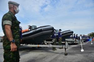 ผบ.ฉก.นาวิกโยธิน กองทัพเรือ ตรวจความพร้อมกำลังพล-ยุทโธปกรณ์ ศูนย์บรรเทาสาธารณภัย