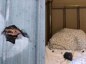 มาไง! อุกกาบาตตกทะลุบ้านร่วงใส่เตียงตอนนอนหลับ หวิดตายไม่รู้ตัว (ชมคลิป)
