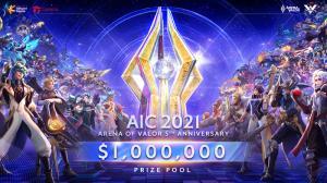 RoV ฉลองครบรอบ 5 ปี อัดฉีดเงินรางวัล AIC2021 กว่า 1,000,000 ดอลลาร์!