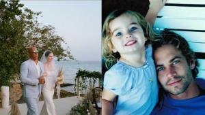"""ครอบครัวเดียวกัน """"วิน ดีเซล"""" ทำหน้าที่พ่อควงลูกสาว """"พอล วอล์คเกอร์"""" เข้าพิธีแต่งงาน"""